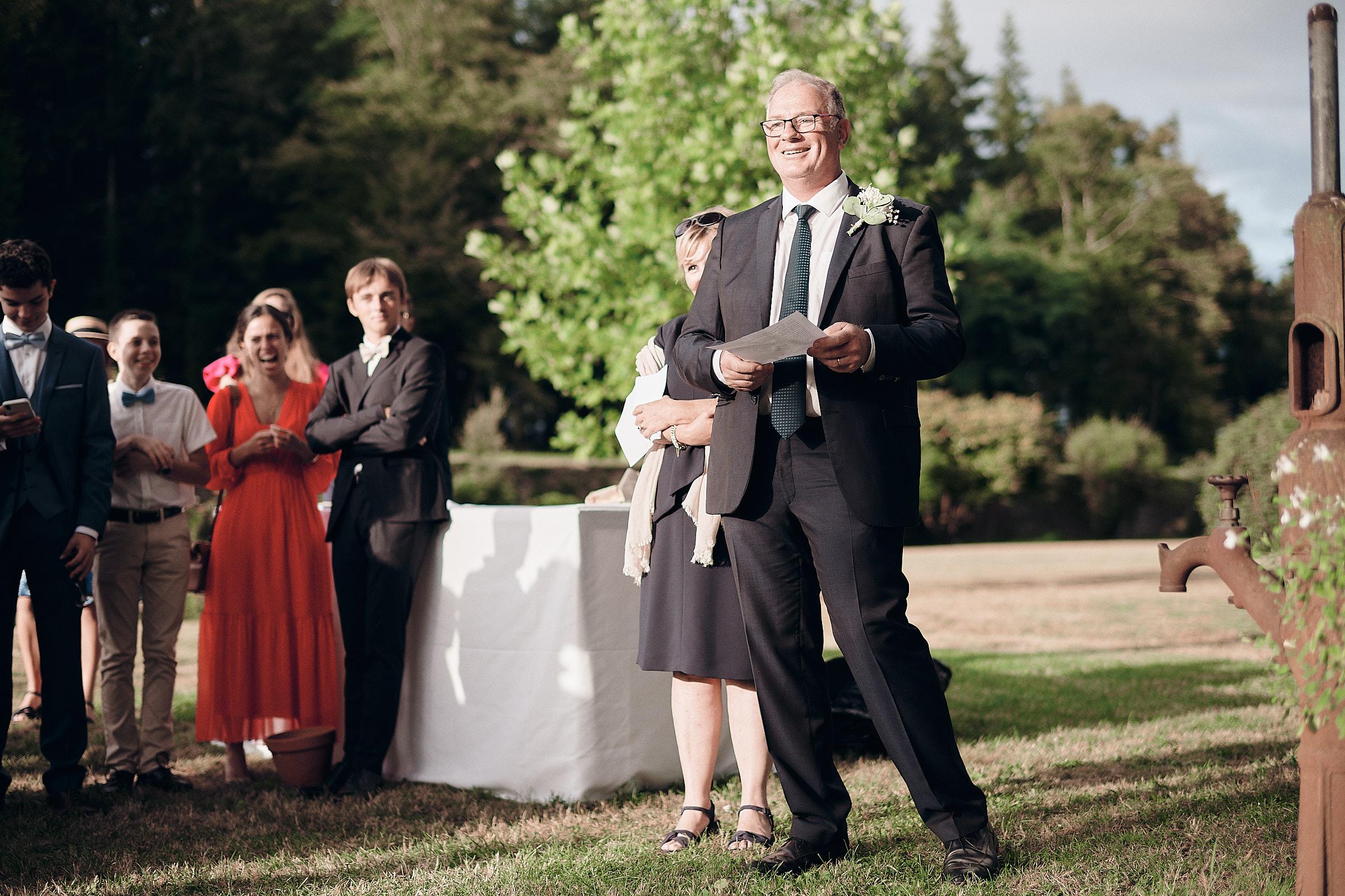 discours du père de la mariée