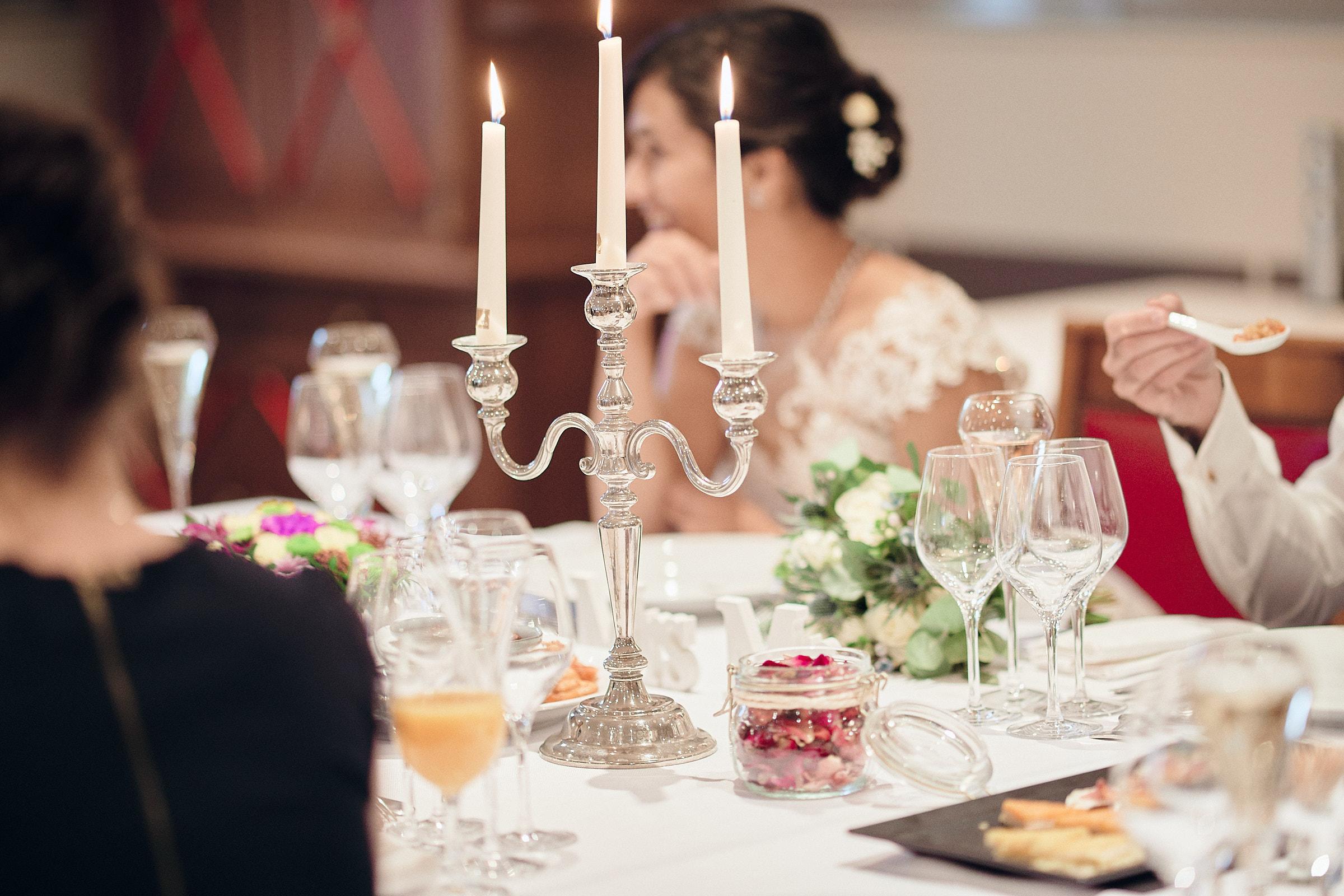 détail de la table des mariés