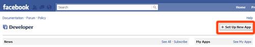 registracija facebook razvijalec nova aplikacija