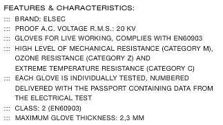 SPEK-INSULATING-ELECTRICIAN-GLOVES INSULATING ELECTRICIAN GLOVES