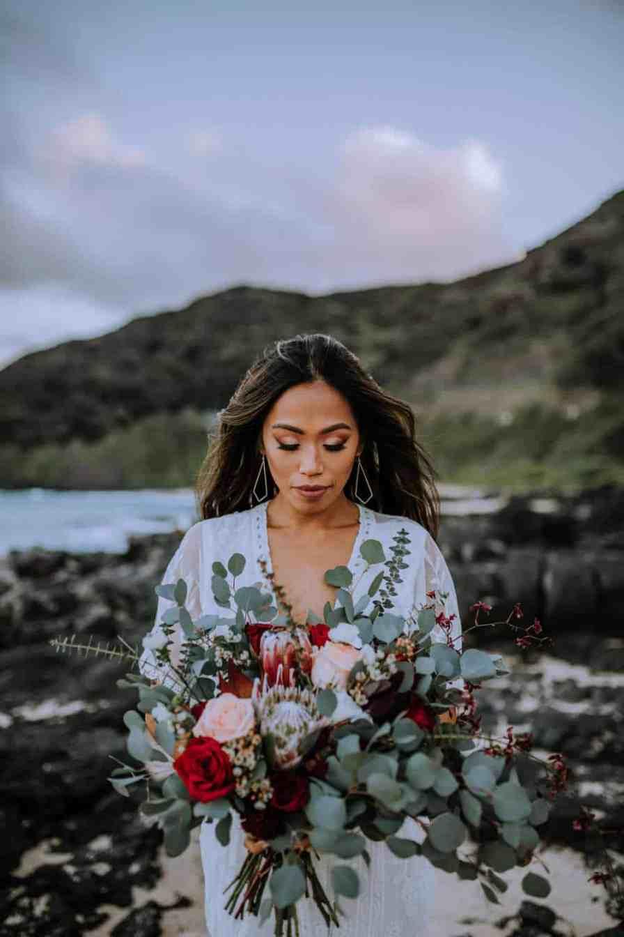 Bridal Hair and make-up inspiration Oahu, Hawaii