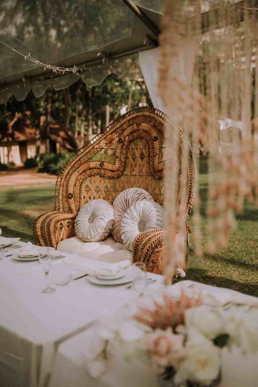 Bride and groom table and chair rental for wedding Oahu Hawaii