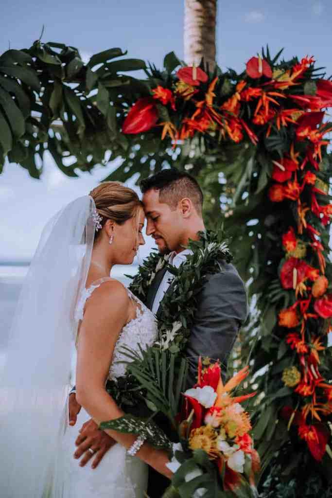 bride and groom wedding day portraist