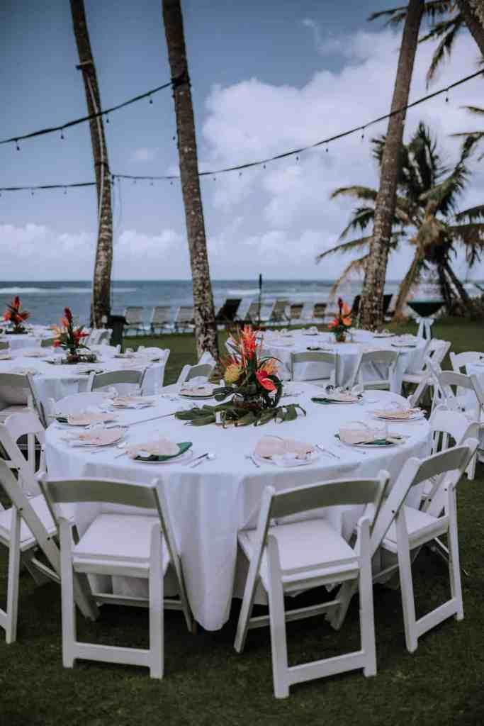 hawaii wedding details and decor