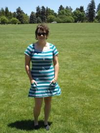 Striped Self-Drafted T-Shirt Dress https://anelementallife.wordpress.com/2011/06/04/me-made-june-day-3/