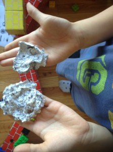 Homemade paper craft with kids