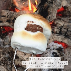 Easiest way to toast a marshmallow and melt chocolate at the same time