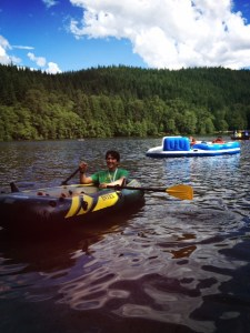 Alice Lake with kids camping