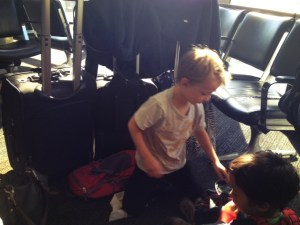 Suitcases and traveling with small kids