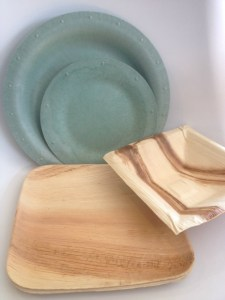 Compostable dinner ware is one of my most fabulous food finds