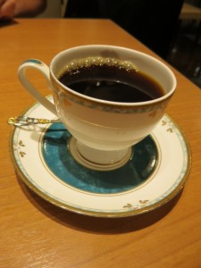 coffee in tea cup