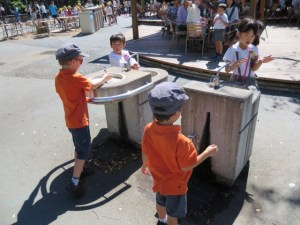 water fountain/hand wash station at ueno zoo