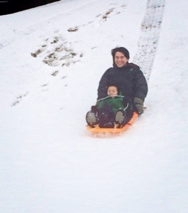 sledding at suncadia near seattle with kids