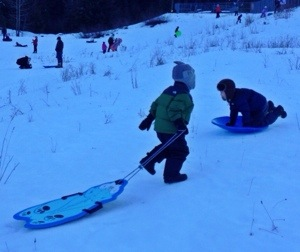 secret sledding with locals in snoqualmie pass