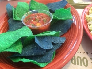taco time blue and green chips