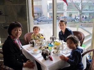 urban tea merchants high tea with kids