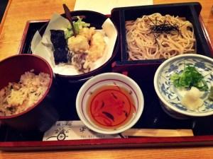 soba meal in arashiyama japan