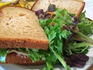 turkey sandwich at Cloud City Coffee Seattle