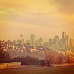 seattle skyline at Ella Bailey Park