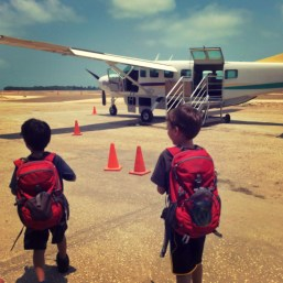 Maya Island Air with kids