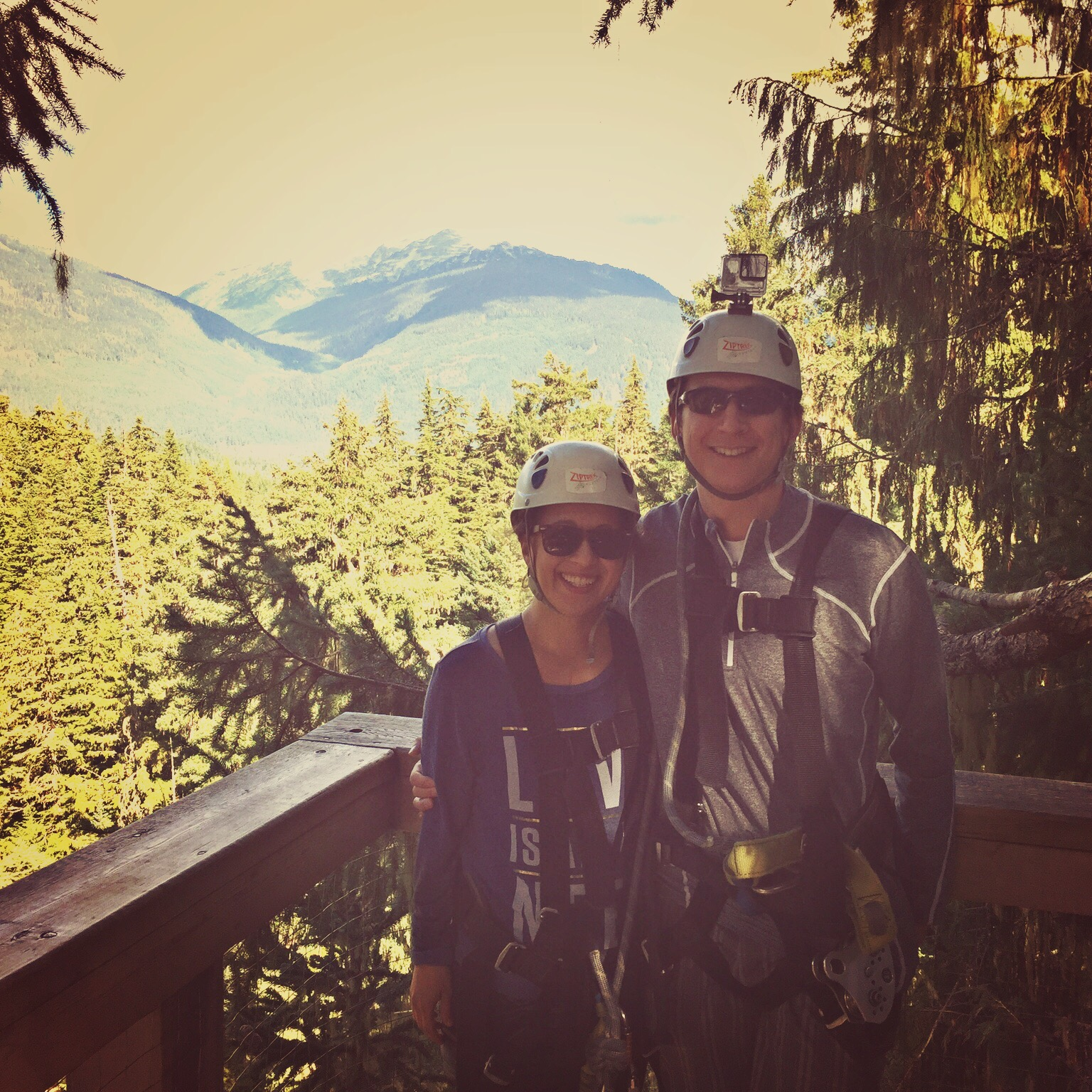 ziplining at whistler for anniversary
