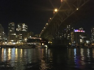 view from aquabus in granville island