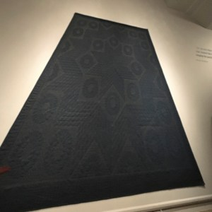 quilt with a starwars allusion at the Mood Indigo exhibit at Seattle Art museum
