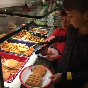Breakfast buffet at Legoland hotel in california