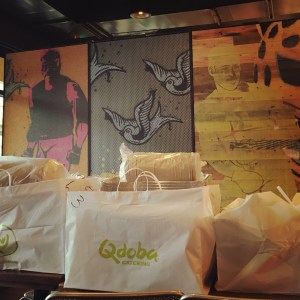 Qdoba taco bar and other catering items