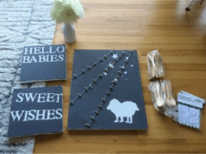 sheep shower decorations