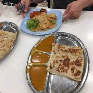 Prata and other foods at Singapore's Changi Airport