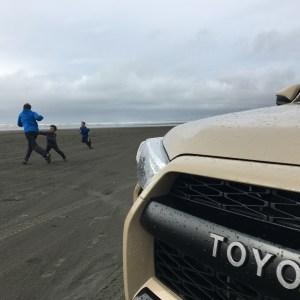 Quicksand Toyota 4runner TRDPro on the beach on the Washington Coast