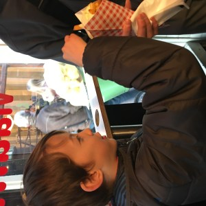 Fries in Amsterdam with kids