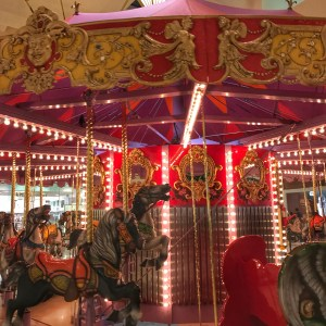 2 carousels at South Coast Plaza Mall