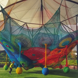 Colorful Crocheted Net Playground at Whoa Studios in New Zealand One of the Coolest Playgrounds we've ever seen
