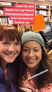Two moms of twins going for an author event at Third Place books in Seattle. These are free and a fun way to meet the faces behind the books