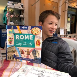 City Trails by Lonely Planet is a great book to help you if you have summer trips to Rome planned with kids