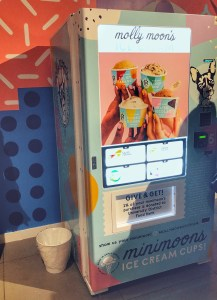 Molly Moon's Minimoon ice cream vending machine at K-Ba-Nana at Uvillage in Seattle