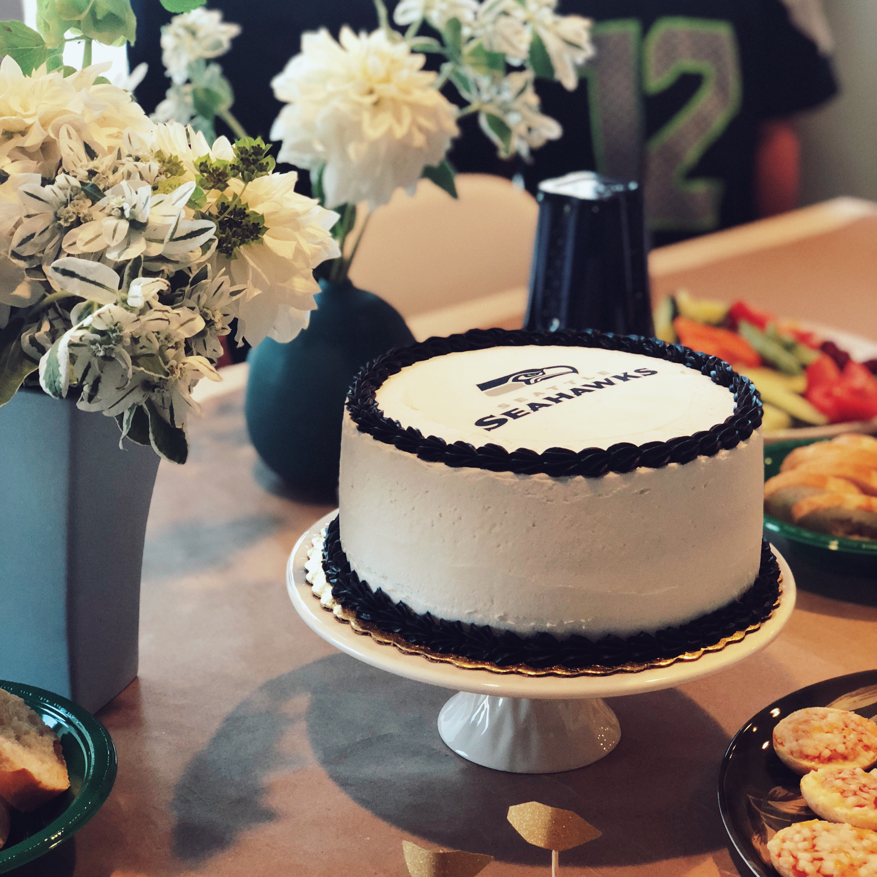 An officially licensed NFL cake from a local bakery for a party in Seattle