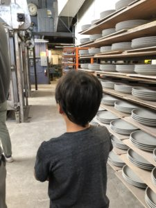 suggested age for kids on the Heath Ceramics Factory tour in Sausalito is 5 and up and we visited with two 10 year olds
