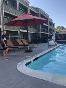 Pool at Courtyard Larkspur Landing Marin County Hotel by Marriott