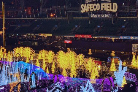 Visiting Enchant Christmas Seattle at Safeco Field is another choice in Holiday events in the area and Sunday might be a good day to go because of free parking