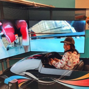 Interactive virtual bobsledding at the ROX or Richmond Oval Experience near the Vancouver Airport