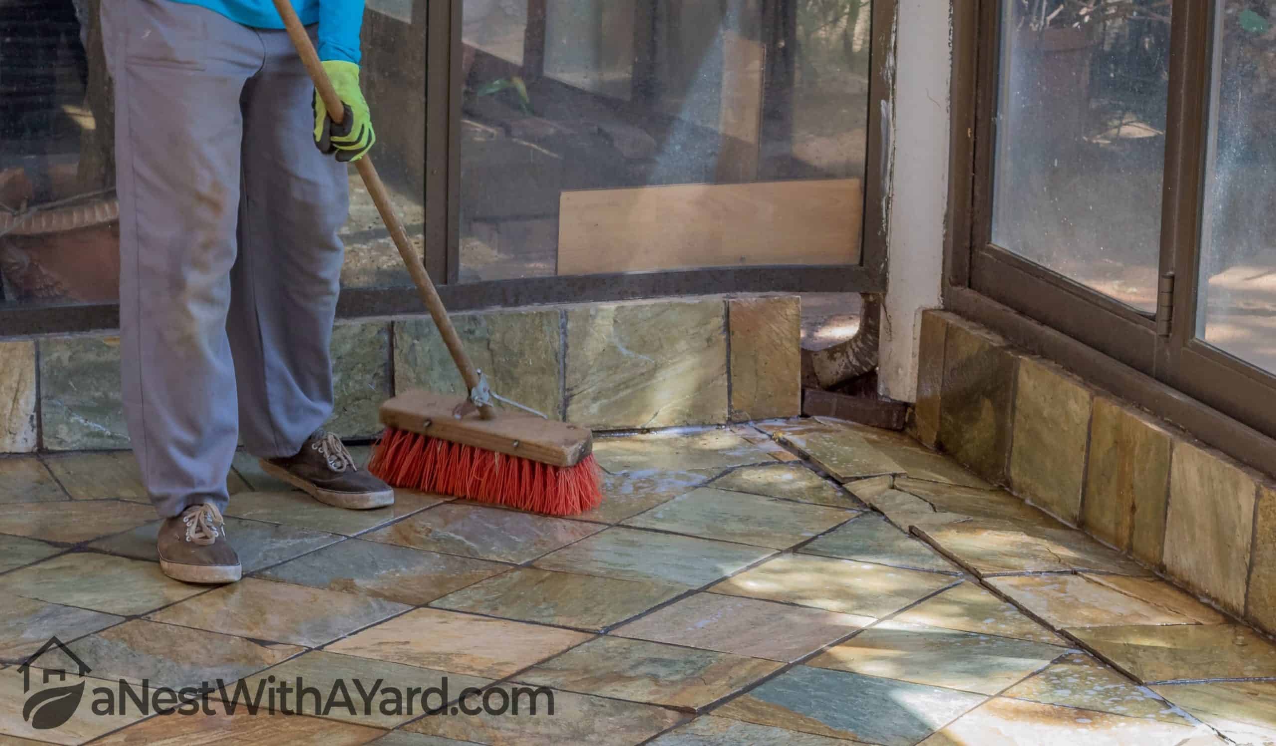 how to clean flagstone patio in 2021
