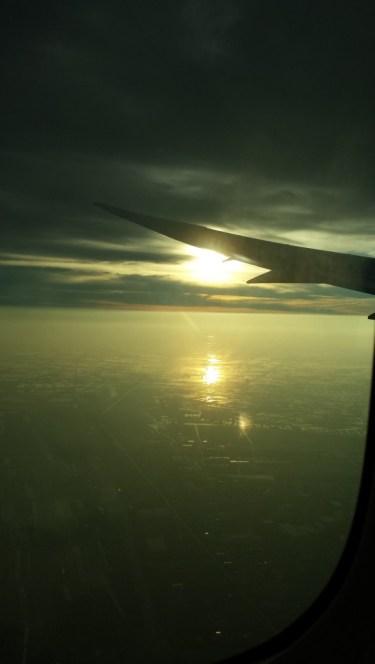 … og så solen stå op over Bangkok tidligt søndag morgen.