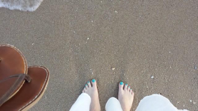Fødder på strand