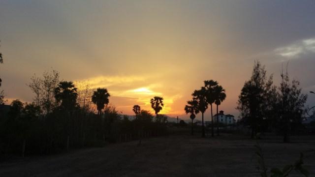 Fin himmel sidste aften i Cha-am