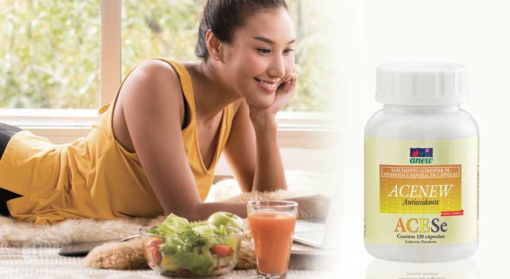 Acenew Suplemento Alimentar antioxidante com nova fórmula