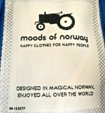 Norwegians like to portray themselves as simple farmers, hence the tractor logo.