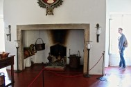 A fabulous 16th-century fireplace in the Cadaval palace.